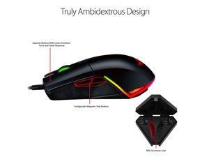 38083c2fab4 ASUS ROG Pugio Aura RGB USB Wired Optical Ergonomic Ambidextrous Gaming  Mouse