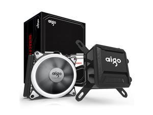 AIGO AigoDIY, Liquid CPU Cooler, 120mm Radiator Quiet Fan Water Cooler Easy Installation All-In-One Liquid CPU Cooler with ...