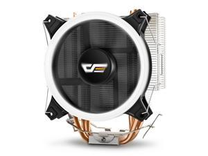 Aigo darkFlash CPU Cooler PC Heatsink with Four Direct Contact Heat Pipes & 120mm PWM White LED Fan Computer CPU Air Cooling ...