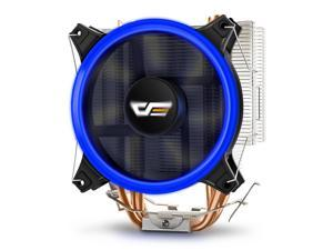 Aigo darkFlash CPU Cooler PC Heatsink with Four Direct Contact Heat Pipes & 120mm PWM Blue LED Fan Computer CPU Air Cooling ...