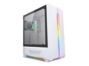 darkFlash T20 ATX Mid-Tower Desktop Computer Gaming Case USB 3.0 Ports Tempered Glass Windows With 1pcs 120mm LED ...