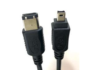 Micro Connectors, Inc. 15 feet Firewire IEEE 1394 6 Pin to 4 Pin Cable (E07-218)