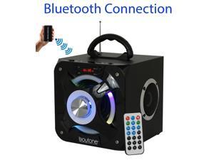 Boytone BT-32D Portable Bluetooth FM Radio Stereo speaker System, USB Port | SD card Slot | MP3| AUX ports, built in rechargeable Battery | Flashing DJ Lights | Remote control