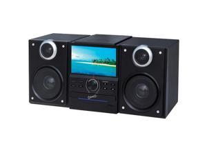 SuperSonic SC-877TV Bluetooth Stereo Speakers Built-in TV with DVD Player USB, SD, and AUX inputs