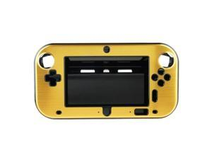 Gold Anti-shock Hard Aluminum Metal Box Cover Case Shell for Nintendo Wii U Gamepad