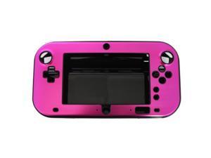 Rose Red Anti-shock Hard Aluminum Metal Box Cover Case Shell for Nintendo Wii U Gamepad