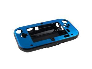 Light Blue Anti-shock Hard Aluminum Metal Box Cover Case Shell for Nintendo Wii U Gamepad