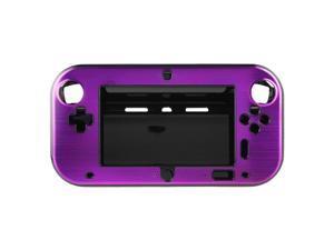 Purple Anti-shock Hard Aluminum Metal Box Cover Case Shell for Nintendo Wii U Gamepad