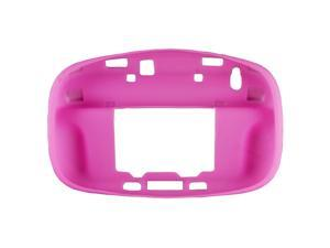 Pink Soft Silicon Case Cover Skin Sleeve Pouch for Nintendo Wii U Gamepad