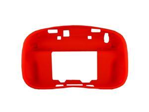 Red Soft Silicon Case Cover Skin Sleeve Pouch for Nintendo Wii U Gamepad