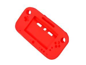 Red Soft Silicone Full Protection Gel Case Cover Sleeve for Nintendo Wii U Gamepad