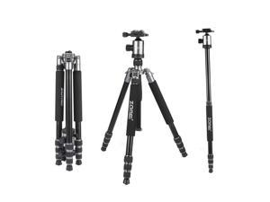 ZOMEI Z818 Lightweight DSLR Tripod Monopod With 360 Degree Ball Head and Carrying Bag For Canon Nikon Sony Samsung Olympus Cameras ( Silver Grey)