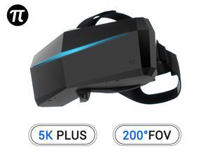 Pimax 5K Plus VR Virtual Reality Headset with Wide 200°FOV, Dual 2560x1440p RGB LCD Panels & 6 DOF Tracking, 1-Year Warranty [Headset Only]