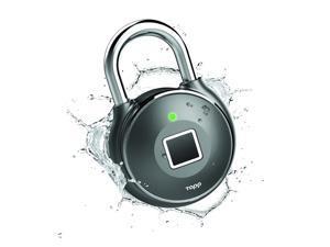Tapplock One Plus Smart Fingerprint Scanning Rechargeable Padlock - Gun Metal, TL203AGM