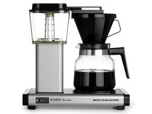 Moccamaster K 741 AO 10-Cup Coffee Brewer with Glass Carafe, Matte Silver