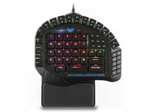 Excalibur Master One-hand Gaming Keyboard Removable Hand Rest RGB Backlight Mechanical Keyboard