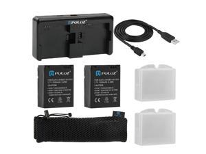 PULUZ 7 in 1 Accessories Charger Combo Kits (Batteries + Cable + Battery Charger + Mesh Bag) for GoPro HERO3+ /3