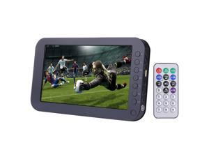 9.5 inch TFT LCD color Portable Analog TV with wide view angle, Support SD/MMC Card, USB Flash disk, AV In/AV Out, FM Radio function