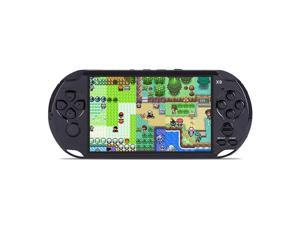 X9 PSP 5.1 inch Pockrt Console Handheld Game Player, Support GBA/ARC/NES