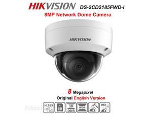 Hikvision English version DS-2CD2185FWD-I 2.8mm 8MP Network mini dome security CCTV Camera POE SD card 30m IR H.265+ IP camera Can Upgrade