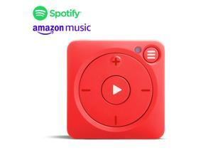 New Mighty Vibe Spotify and Amazon Music Player - Bluetooth & Wired Headphones - 1,000+ Song Storage - No Phone Needed - Red