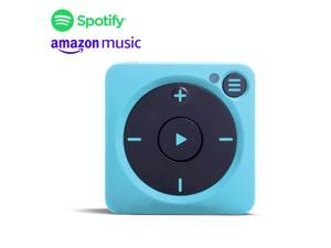 New Mighty Vibe Spotify and Amazon Music Player - Bluetooth & Wired Headphones - 1,000+ Song Storage - No Phone Needed - Blue