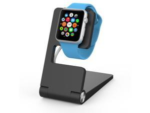 Element Works Apple watch stand | Apple watch charging dock | iwatch charging stand Foldable Aluminum Charging Stand for Apple Watch - Black