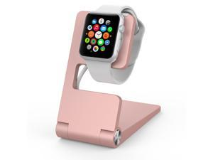 Element Works Apple watch stand | Apple watch charging dock | iwatch charging stand Foldable Aluminum Charging Stand for Apple Watch - Rose Gold