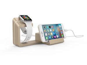 Dual 2 in 1 Charging Stand for Apple Watch and Smartphones ( Black, Gold, Rose Gold, Space Grey, Silver, White, Blue, Pink, Teal, Lilac )