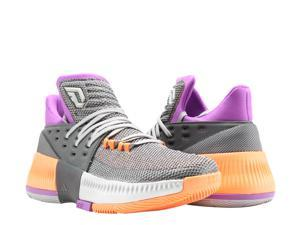 Adidas D Lillard 3 Dame 3 ASG Grey/Purple/Orange  Men's Basketball Shoes BY8270 Size 4