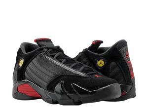 Nike Air Jordan 14 Retro Black Red-Black Big Kids Basketball Shoes ... 766b2128a