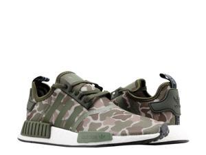 Adidas NMD_R1 Sesame/Steel/Base Green Duck Camo Men's Running Shoes D96617 Size 9