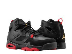 02113bc2426668 Nike Air Jordan Flight Club  91 BG Blk Red Big Kids Basketball Shoes 555472