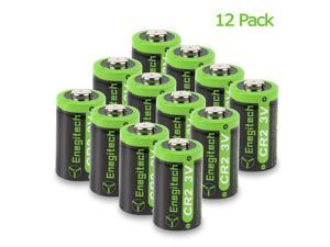 12 Pack CR2 3V 800mAh Lithium Photo Battery with PTC Protection DL-CR2 for Laser Boresighter, Laser Pointer, Golf Rangefinder, Funifilm Instax Mini55, Snuza Baby Monitor, Flashlight