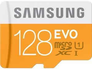Samsung 128GB EVO microSDHC UHS-I/U1 HC I Class 10 Memory Card with Adapter, Speed Up to 48MB/s (MB-MP128DA/AM) [Old pattern]