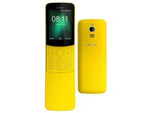 Nokia 8110 4G (2018) Dual-SIM 4GB (No CDMA, GSM only) Factory Unlocked 4G/LTE Smartphone - Yellow