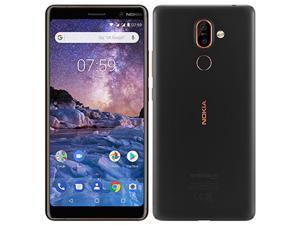 Nokia 7 Plus 64GB Android (GSM Only | No CDMA) Factory Unlocked 4G/LTE Smartphone - Black