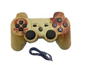 God Of War PS3 controller - Wireless Bluetooth Joystick, Gamepad for Playstation 3 w/ cable