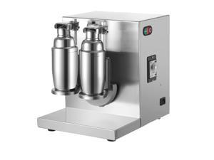 VEVOR Milk Tea Shaker Double Frame Milk Tea Shaking Machine 400r/min Stainless Steel Auto Tea Milk Making Machine for Boba Milk Tea