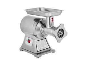 VEVOR 1 HP/750W Meat Grinder Stainless Steel 193/225 RPM Electric Meat Grinder Commercial Sausage Stuffer Maker Maker for Industrial and Home Use
