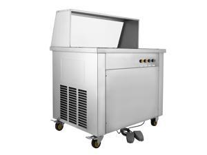 VEVOR Fried Ice Cream Machine 35cm/13.8inch Commercial Fried Ice Cream Maker 1060W Fried Ice Cream Roll Machine for Bar Dessert Shop Hotel with 5 Cylinders