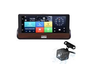 3G 7'' Touch Screen Android 5.0 Car DVR Dual Cams GPS Navigation Bluetooth Wifi Recorder Dashcam With Rear View Camera