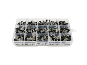 675-Piece 15 Values 2N2222-S9018 NPN PNP Power General Purpose Transistors Assortment Kit