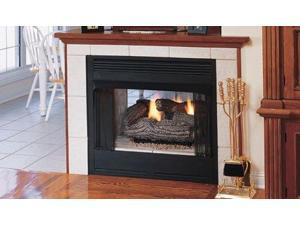 """Superior 36"""" See-Through Louvered VF Firebox w/White Stacked Liner"""