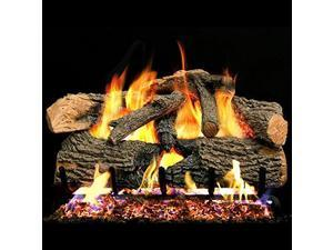 Peterson Real Fyre 30-inch Charred Evergreen Oak With Vented Propane G52 Burner - Electronic Variable Remote