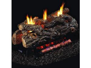 Peterson Real Fyre 24-inch Golden Oak Designer See-thru Log Set With Vent-free Natural Gas Ansi Certified G9 Burner - Basic On/Off Remote