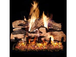 Peterson Real Fyre 24-inch Split Oak Designer Plus Log Set With Vented Propane Ansi Certified G46 Burner - Variable Flame Remote