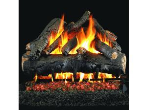 Peterson Real Fyre 24-inch American Oak Gas Log Set With Vented Propane Ansi Certified G46 Burner - Manual Safety Pilot