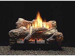 Thermostat 5-piece 24 inch Ceramic Fiber Log Set - Liquid Propane