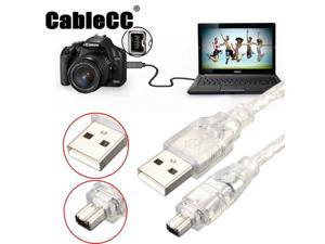 Cablecc USB Male to Firewire IEEE 1394 4 Pin Male iLink Adapter Cord Cable for SONY DCR-TRV75E DV